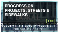 Progress on Projects: Streets & Sidewalks