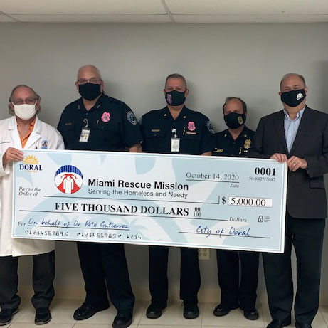 Doral Donates to Miami Rescue Mission Clinic for COVID-19 Medical Assistance