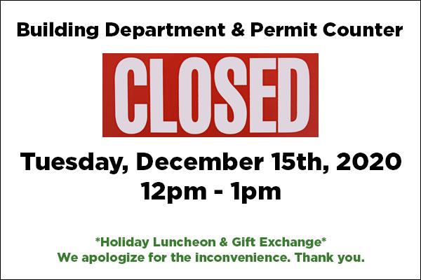 Building Department Closed