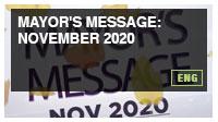 Mayor's Message: November 2020