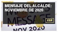 Mensaje del alcalde: noviembre de 2020