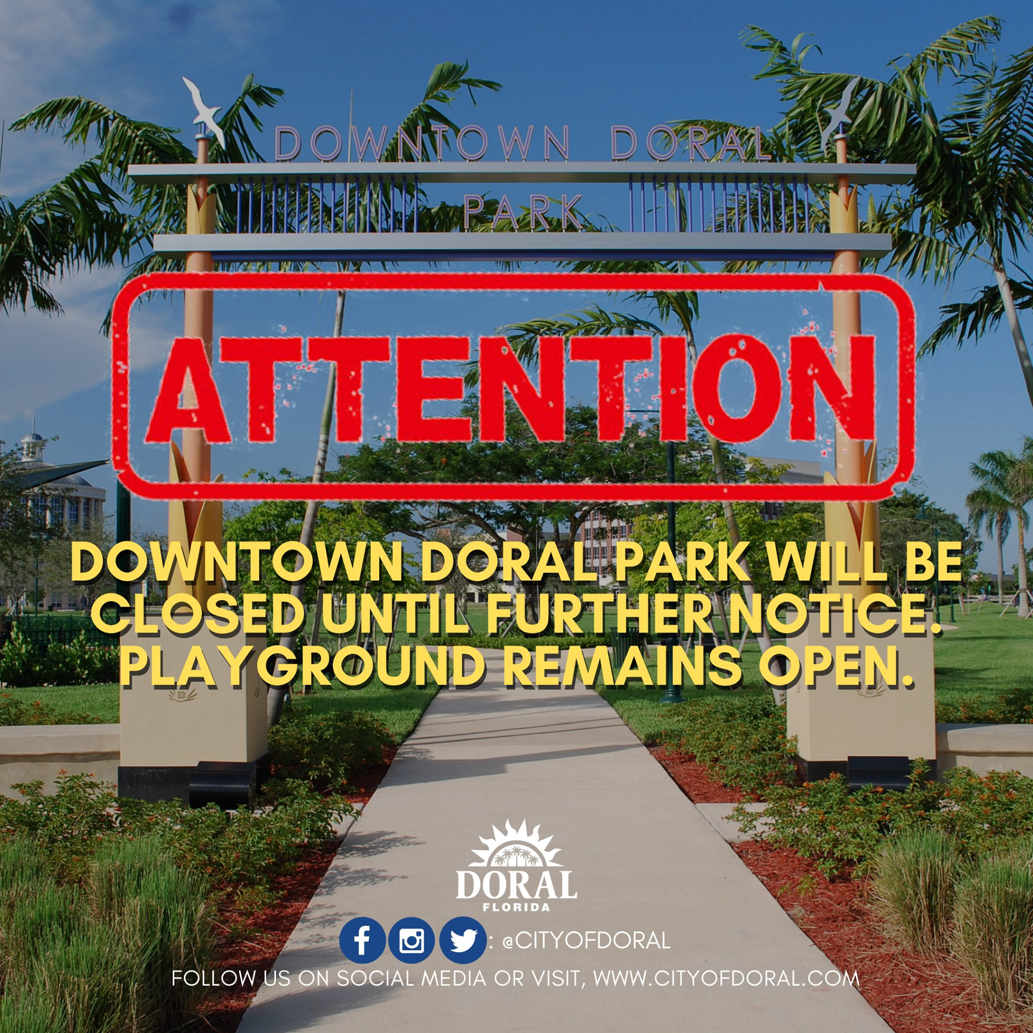 Downtown Doral Closed