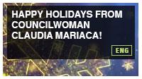 Happy Holidays from Councilwoman Claudia Mariaca!