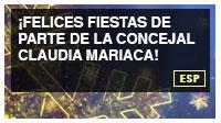 ¡Felices fiestas de parte de la concejal Claudia Mariaca!
