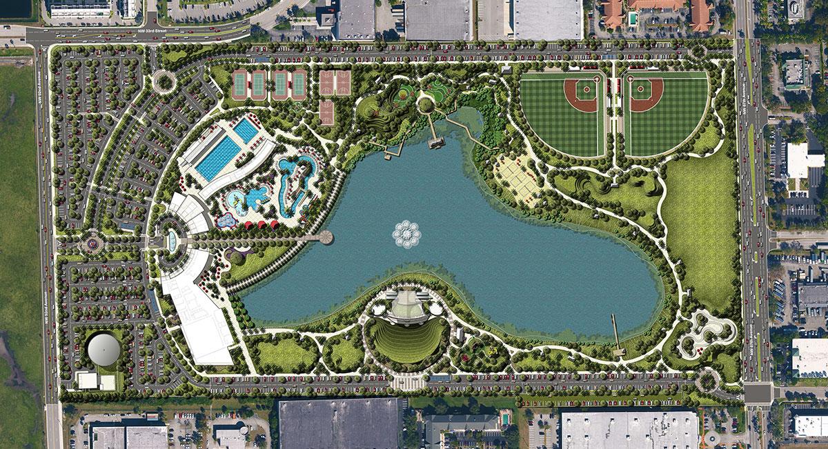 Doral Central Park Master Plan Map