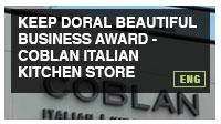 Keep Doral Beautiful Business Award - Coblan Italian Kitchen Store