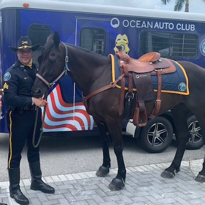 Doral and Ocean Mazda Unveil New Doral PD Mounted Patrol Unit