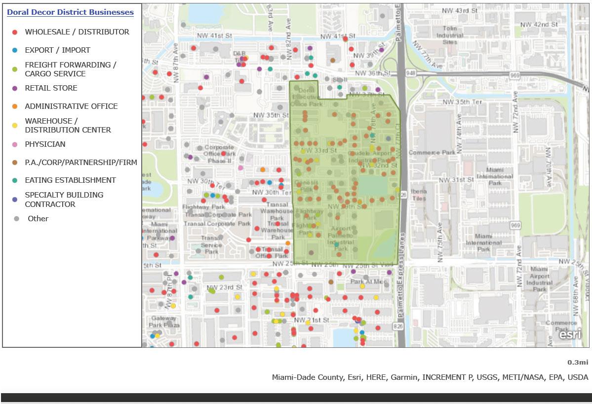 Doral Decor District Map