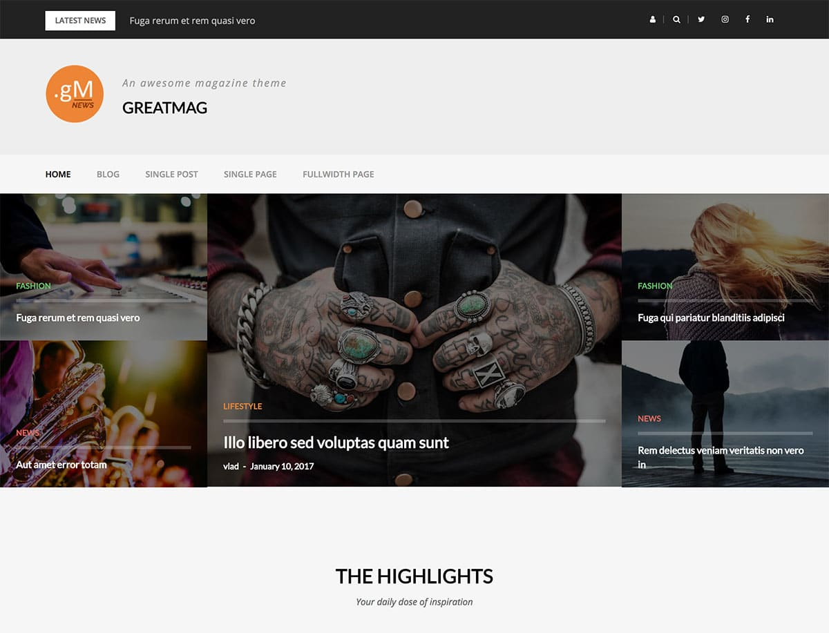 GreatMag Theme