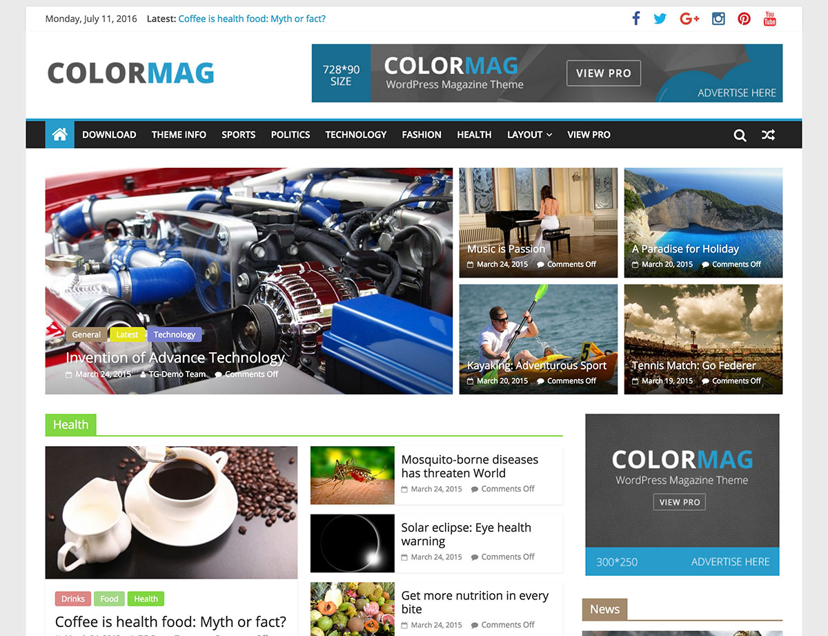 ColorMag Theme