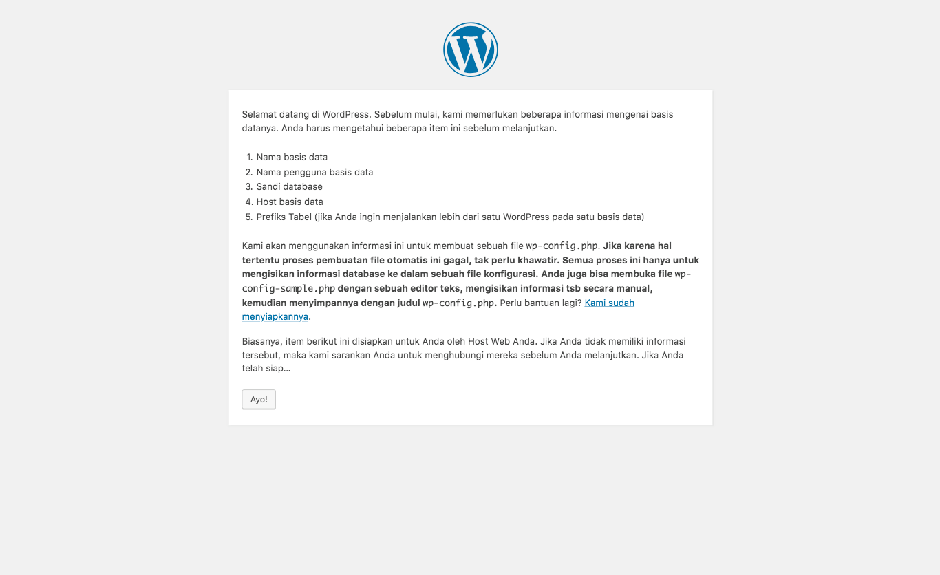 Menginstall WordPress di Localhost