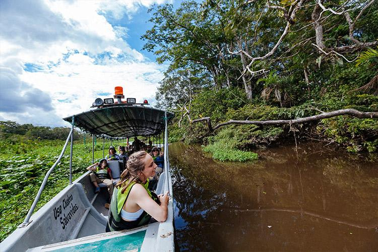 Anakonda Amazon's 8-Day Itinerary Day One - Skiff Ride.