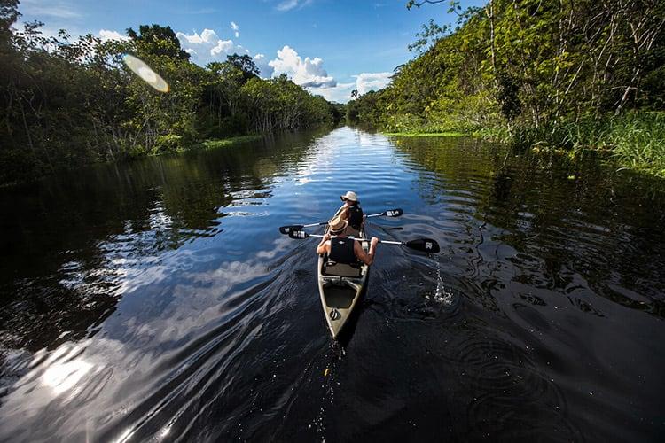 Delfin I Amazon's 4-Day Itinerary Day Three - Kayaking Peru's Amazon.