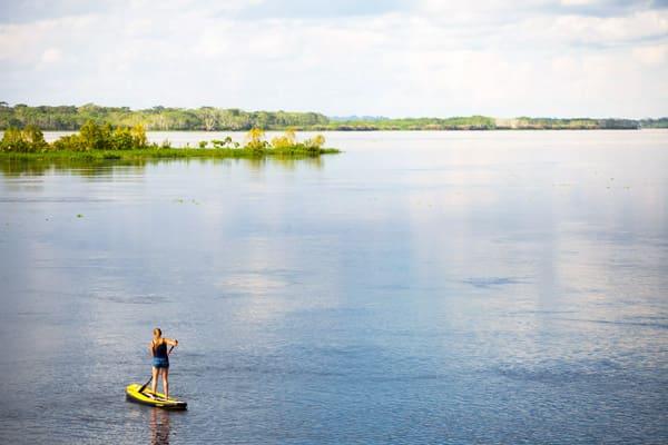 Delfin III Amazon's 4-Day Itinerary Day Three - Paddle Boarding.