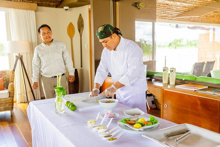 Delfin III Amazon's 5-Day Itinerary Day Two - Peruvian Ceviche Cooking Class.