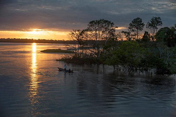 Aria Amazon's 8-Day Itinerary Day Six - Amazon River Sunset.