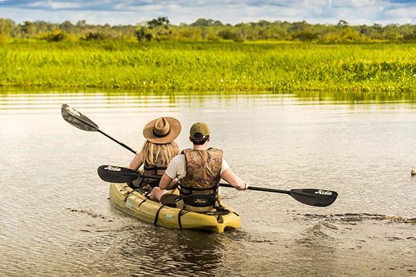 Zafiro's 8-Day Itinerary Day Three - Kayaking on the Amazon river.