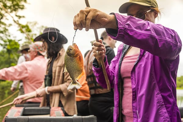 Zafiro's 8-Day Itinerary Day Six - Fishing in Peru's Amazon river.