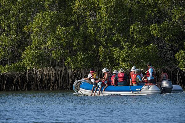 Coral I & II's 8-Day Cruise 'A+B' Itinerary Day Eight - Santa Cruz Island Panga Ride.