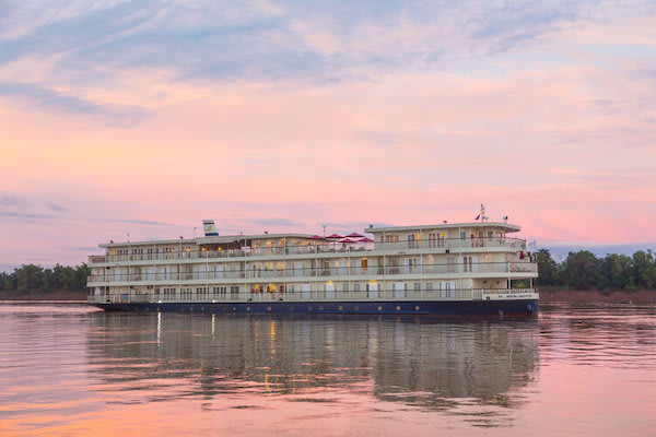 Mekong Navigator's 5-Day Downstream Itinerary Day Three - Boat Exterior