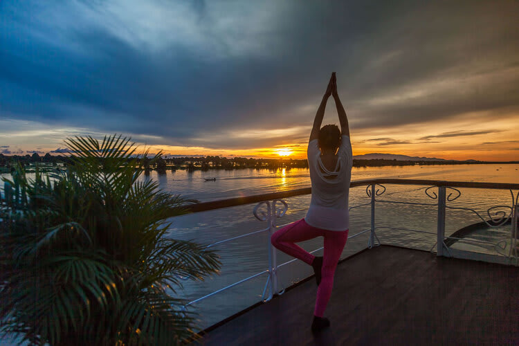 Jayavarman's Pearl of the Orient Upstream Day Four - Sunrise Yoga