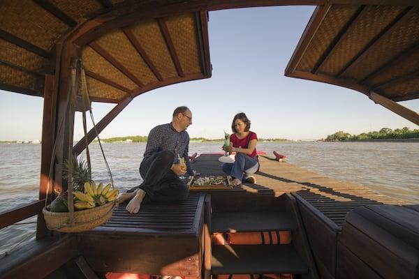 Jayavarman's Serenity Cruise Upstream Day Two - Enjoy Sunset