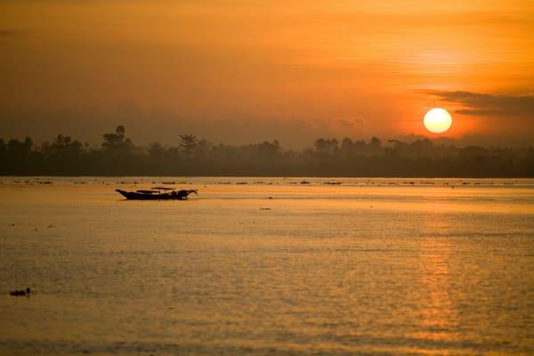 Jayavarman's Serenity Cruise Upstream Day Three - Sunset