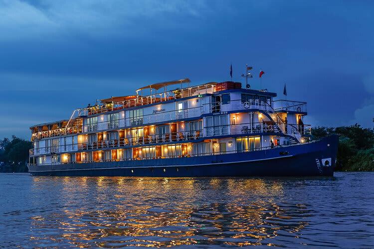 Jayavarman's Serenity Cruise Downstream Day One - Boat Side View