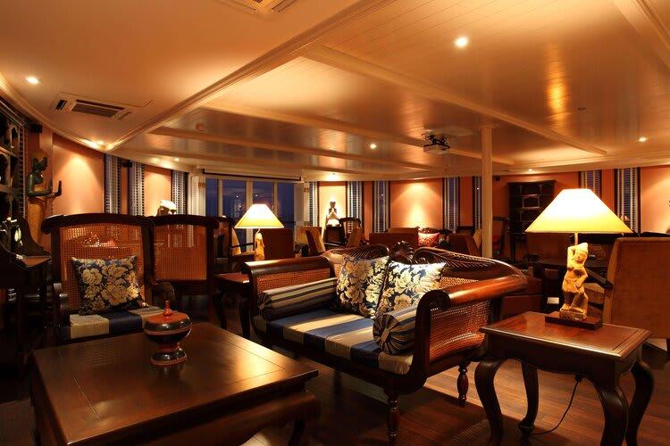 Jayavarman's Serenity Cruise Downstream Day Three - Lounge