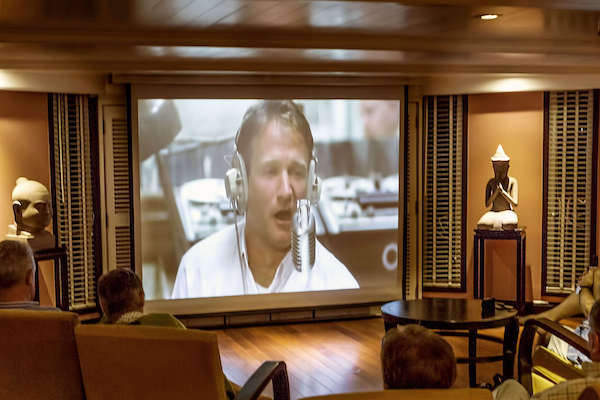 Jahan's Pearl of the Orient Upstream Day Two - Cinema On Board