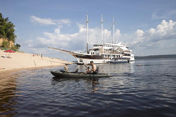 Desafio's 4-Day Maguari Expedition Cruise Itinerary Day Two - Kayaking on the River.