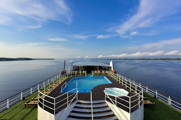 Iberostar's 5-Day Cruise Itinerary Day Three - Top Deck Views.