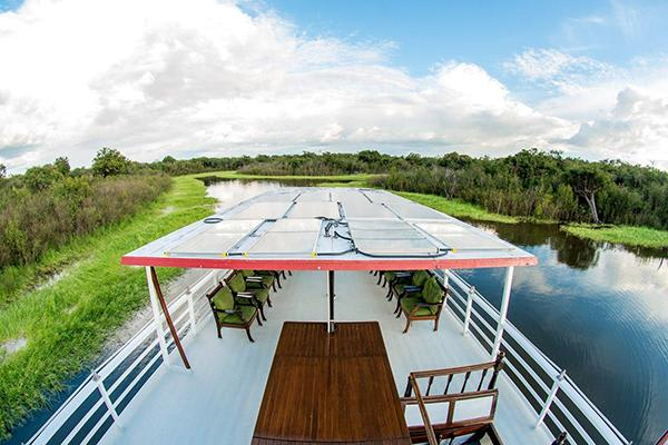 Tucano's 5-Day Cruise Itinerary Day Two - Top Deck Views.