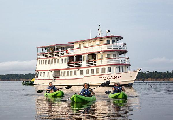 Tucano's 5-Day Cruise Itinerary Day Three - Kayaking along the river.