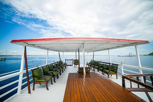 Tucano's 7-Day Cruise Itinerary Day Four - Views from the top deck.