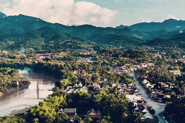 Anouvong's 10-Day Laotian Serendipity Day Six - Drone View Along Upper Mekong