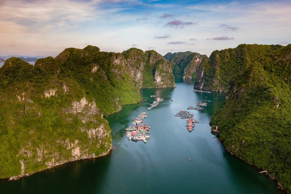 Jasmine's 3-Day Jewels of Halong Bay Day One - Halong Bay Drone View