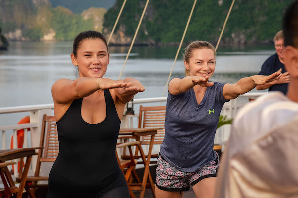 Violet's 3-Day Jewels of Halong Bay Day One - Morning Tai Chi Class