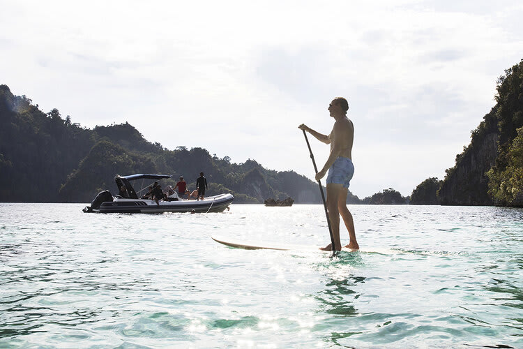 Aqua Blu's 13-Day Spice Island to Flores - Day Eleven - Stand Up Paddle Board