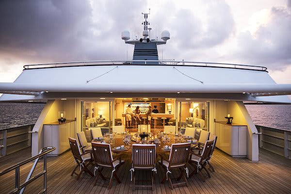 Aqua Blu's 13-Day Raja Ampat to Spice Island - Day Six - Dinner Set Up On Board