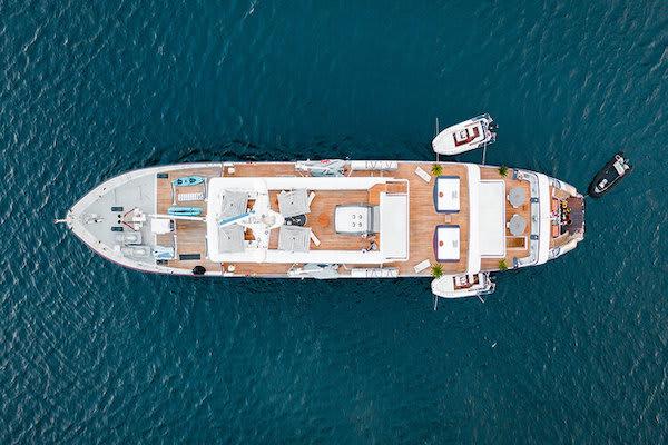 Aqua Blu's 13-Day Raja Ampat to Spice Island - Day Ten - Boat Drone View