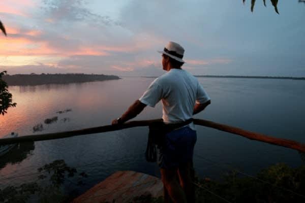 Jacaré Acu's 7-Day Anajaú Cruise Day Three - Anavilhanas Sunset.
