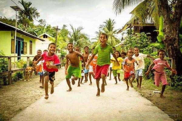 Ombak Putih's Sorong to Kaimana - Day Two - Local Children