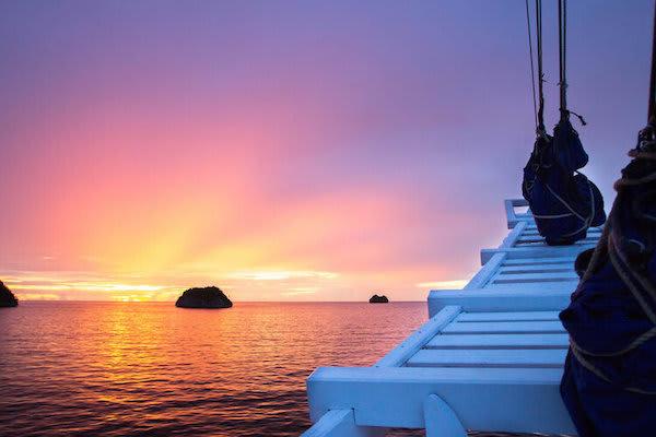 Ombak Putih's Sorong to Kaimana - Day Nine - Watching Sunset On Board