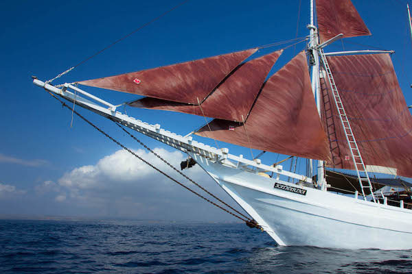Katharina's Komodo to Bali - Day One - Boat Side On