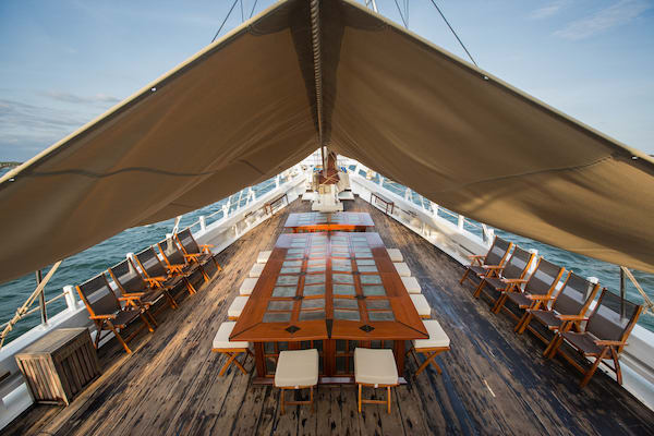 Katharina's Komodo to Bali - Day Two - On Deck Dining