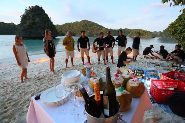 Lamima's 11-Day Greater Raja Ampat - Day Three - Private Party on the Beach