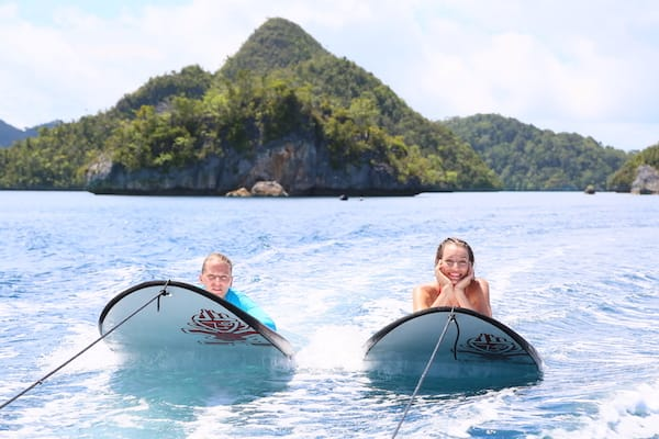 Lamima's 11-Day Greater Raja Ampat - Day Six - Having Fun with Wake Board