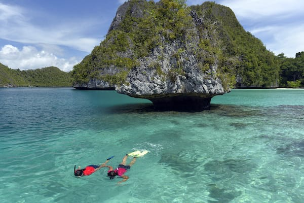 Lamima's 11-Day Sorong to Kaimana - Day One - Snorkeling in Crystal clear water