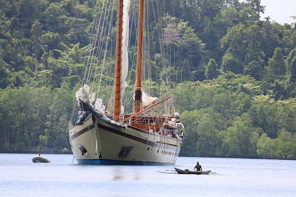 Lamima's 11-Day Sorong to Kaimana - Day Two - Lamima Anchoring